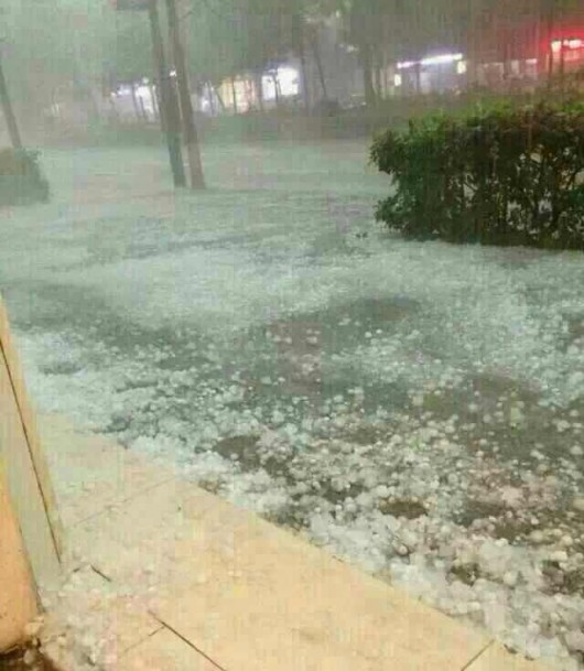 Hailstorm in Hong Kong 1