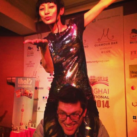 The author with Bai Ling