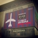 "Banner Over Beijing Mall Counts ""Time Since Losing Contact"" With Malaysia Airlines Flight MH370"