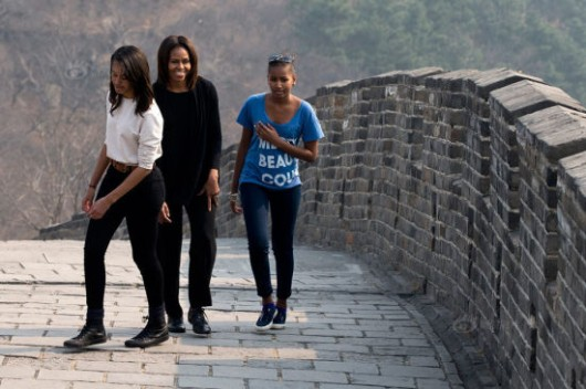 Michelle Obama at the Great Wall