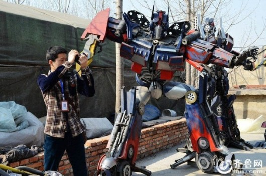 Transformer made by repairman in Jinan, Shandong 3