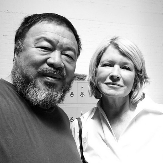 Ai Weiwei and Martha Stewart