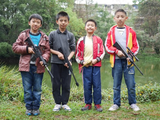 Maoming boys with guns