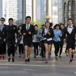 Running in suits Sanlitun
