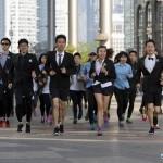 Running in suits Sanlitun