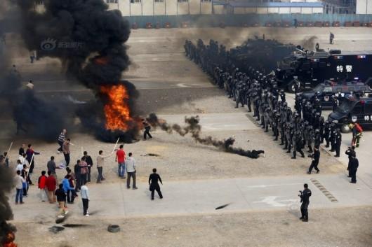 Security drill in Beijing