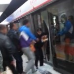 Suspected Fight On Shenyang Subway Results In Broken Glass Door, Delays