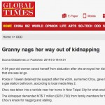 Global Times headline grandma nags her way out of kidnapping featured image