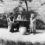 Mme Chiang Kai-Shek, Ernest Hemingway, and Martha Gellhorn in Chongqing (Chungking) in 1941