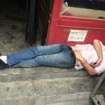 Here's A Foreigner Passed Out In Sanlitun At 12:30 pm