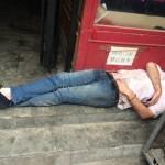 Laowai sleeping in Sanlitun