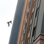 Shanghai firefighters falling to their deaths