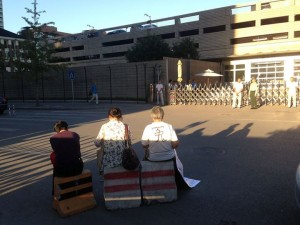 Beijing US embassy protest 1