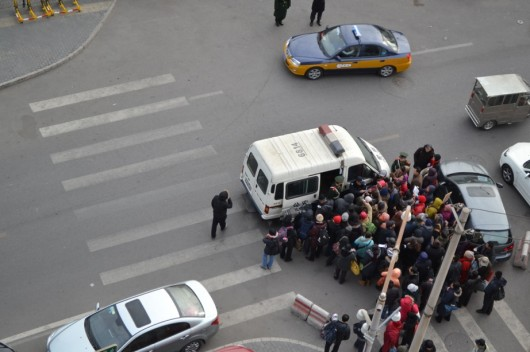 Beijing US embassy protest 4