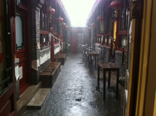 Beijing rain and hail 2014