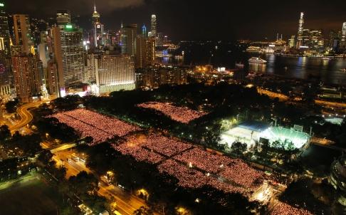 Hong Kong Tiananmen vigil 2014