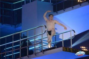 Chen Guangbiao on 10-meter dive platform