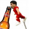 Luis Suarez's Big Biting Teeth Are Now Opening Bottles