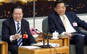 Bo Xilia (right) and two Zhou Yongkang – two ex-Politburo heavyweights, now tainting anyone in their midst