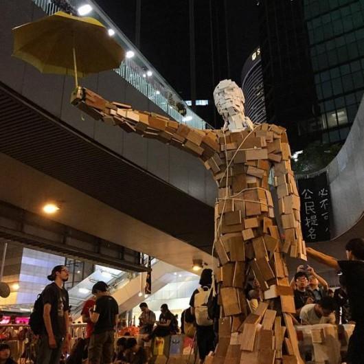 Umbrella statue