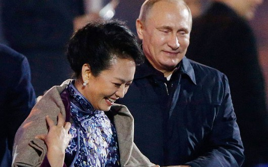 Vladimir Putin and Peng Liyuan