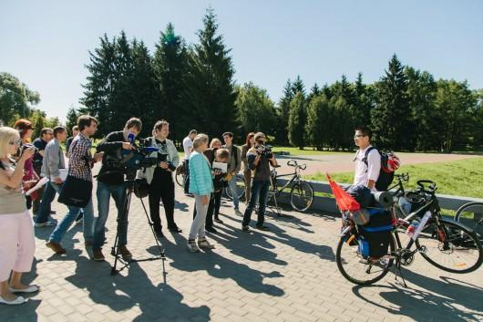 2014 June- first day of I Bike Europe media attention Brest Belarus