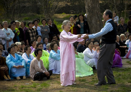 Dancing In The Park, North Korea