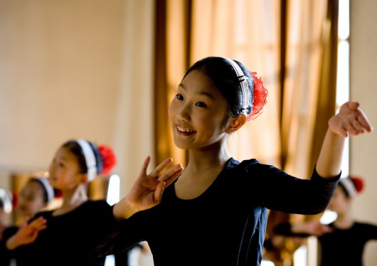 Dancers At Mangyongdae School Children In Pyongyang, North Korea