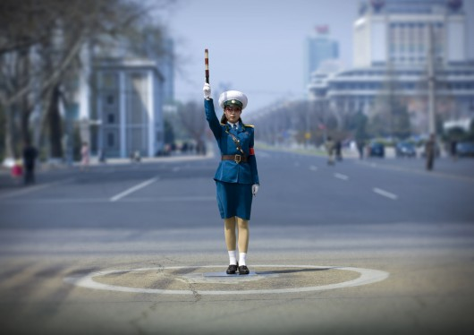 Traffic Officer In Pyongyang, North Korea