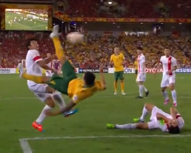 Tim Cahill bicycle kick goal