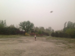 Frisbee in a sandstorm