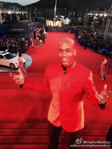 Stephon Marbury on red carpet