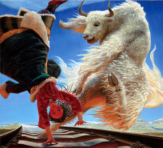 Wang Yiguang Tibetan paintings 3