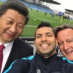 Man City's Sergio Aguero Takes Selfie With Xi Jinping, David Cameron (!)