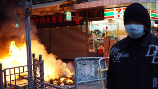 Hong Kong fishball riots 2